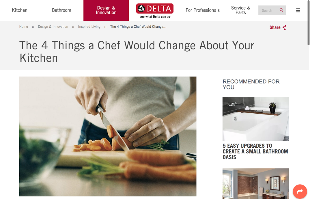 How Delta Faucet Increased Pageviews Per User by 49% Using Machine Learning