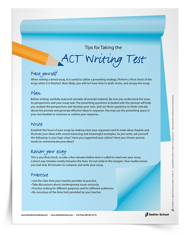 Essay writing for the act