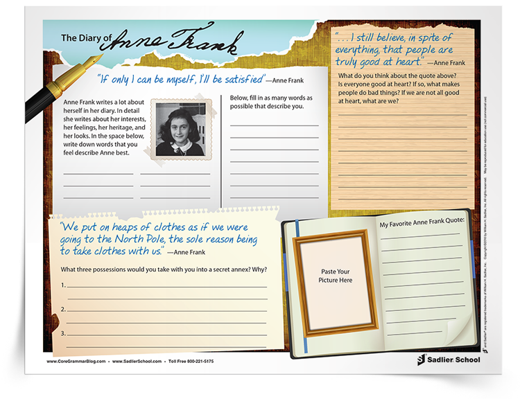 Diary Of Anne Frank Activities That Will Strengthen