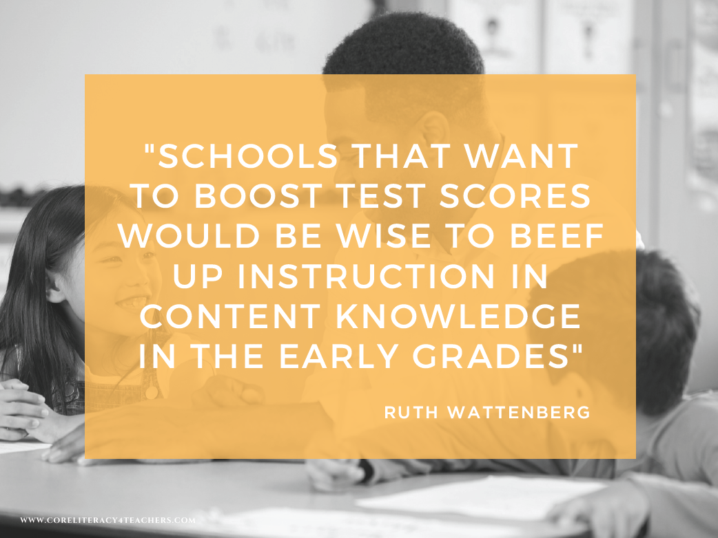 Content-Rich Curriculum is the Best Preparation for High-Stakes ...