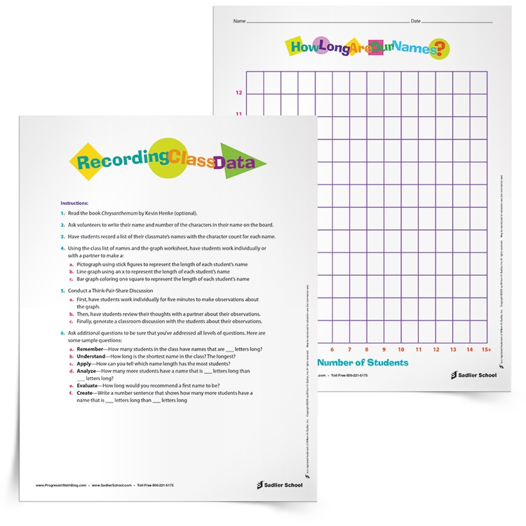 A Bar Graph Activity with a Literacy Spin Grades 2 4 – Graphing Data Worksheets