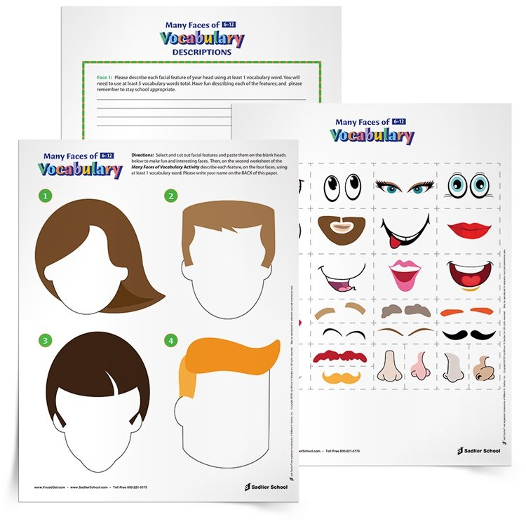 Worksheets Vocabulary Builder Worksheets vocabulary building worksheets that combine creative graphics writing
