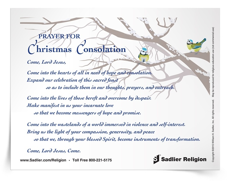 a prayer for christmas consolation - Do Catholics Celebrate Christmas