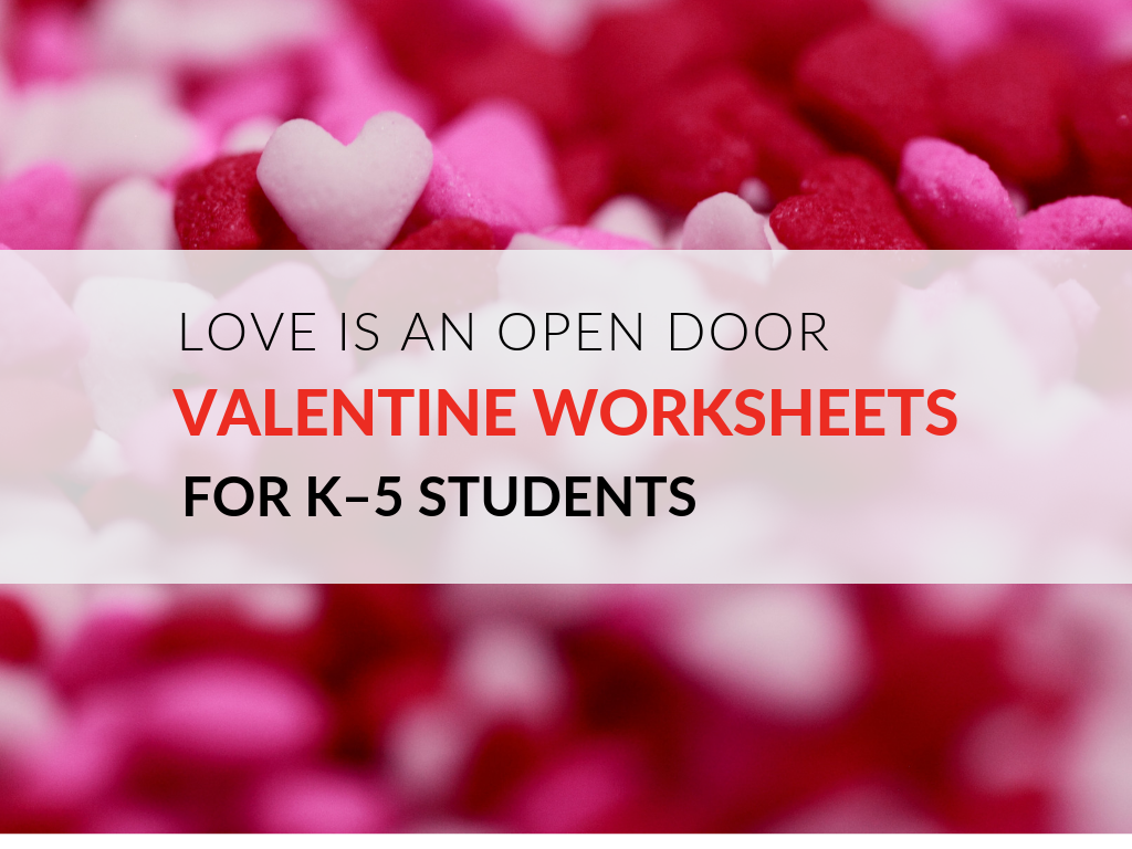 photograph relating to Free Printable Valentine Worksheets named Printable Valentine Worksheets- Delight in Is An Open up Doorway