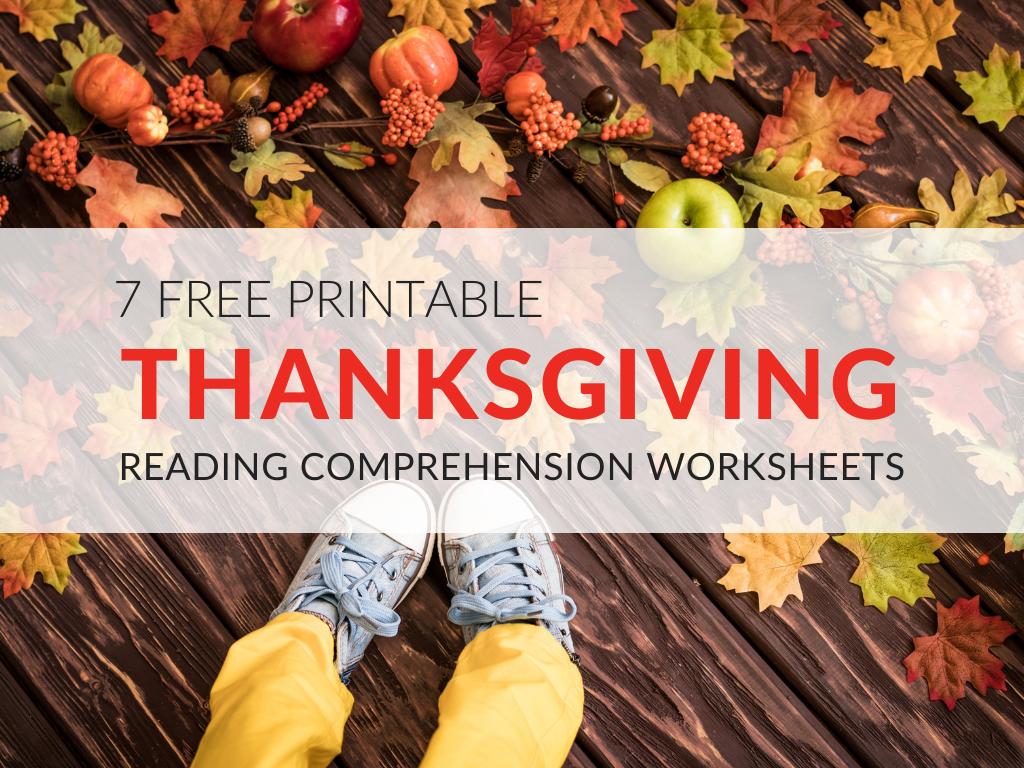 Thanksgiving Reading Comprehension Worksheets For Grades 1 5 Pdf Printables
