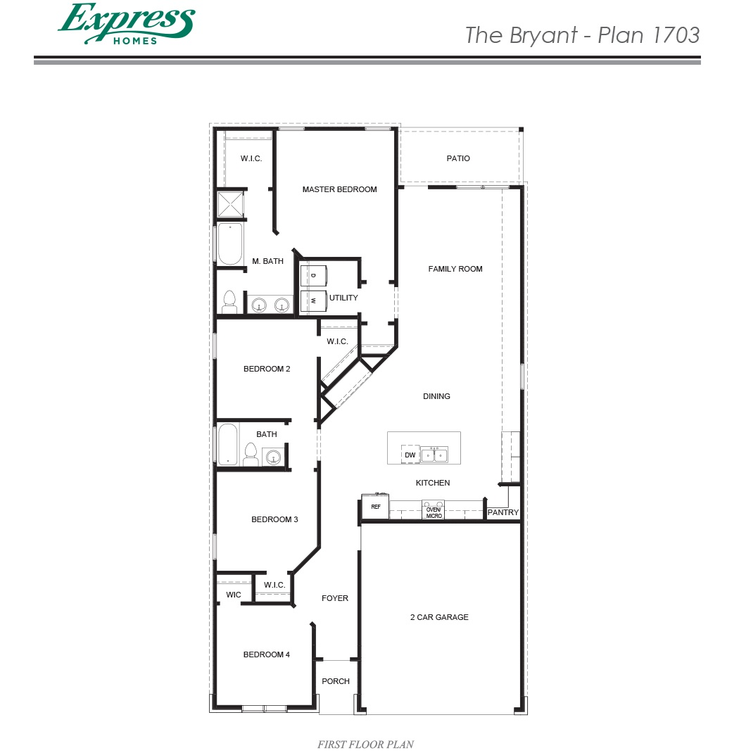 Express Homes by DR Horton – Bryant Homes Floor Plans