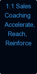 1:1 Sales                    Coaching                   Accelerate,                     Reach,                  Reinforce