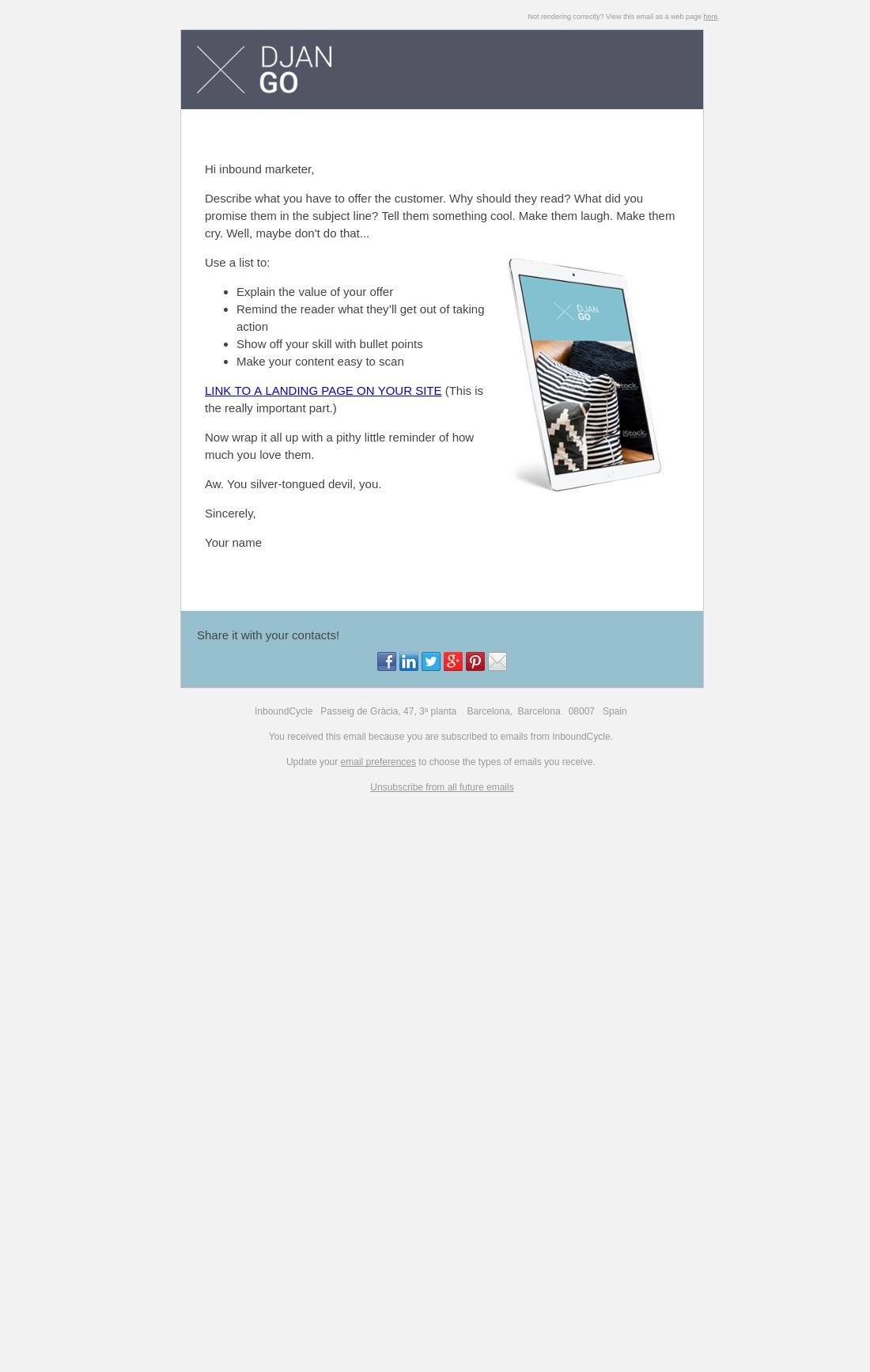 DjanGo - Email Basic | HubSpot