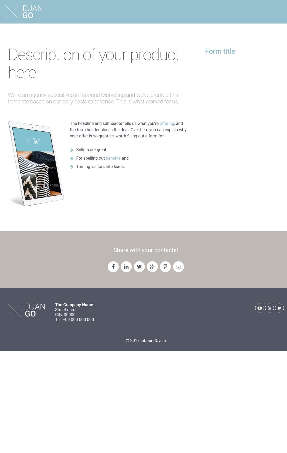 DjanGo - Landing Page C - Left Title Right Form | HubSpot