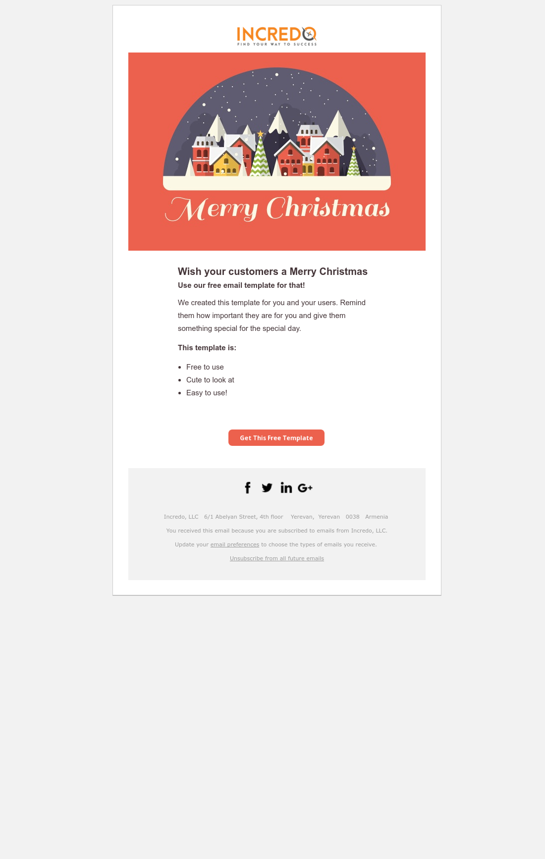 Email Template - Merry Christmas | HubSpot