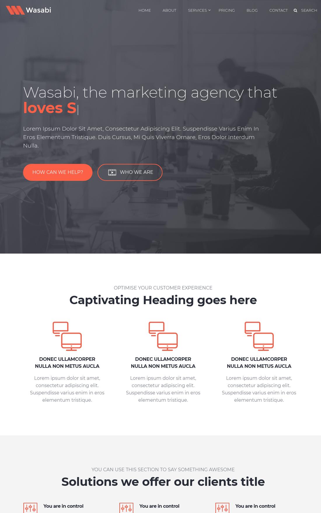 WASABI Homepage Template | HubSpot