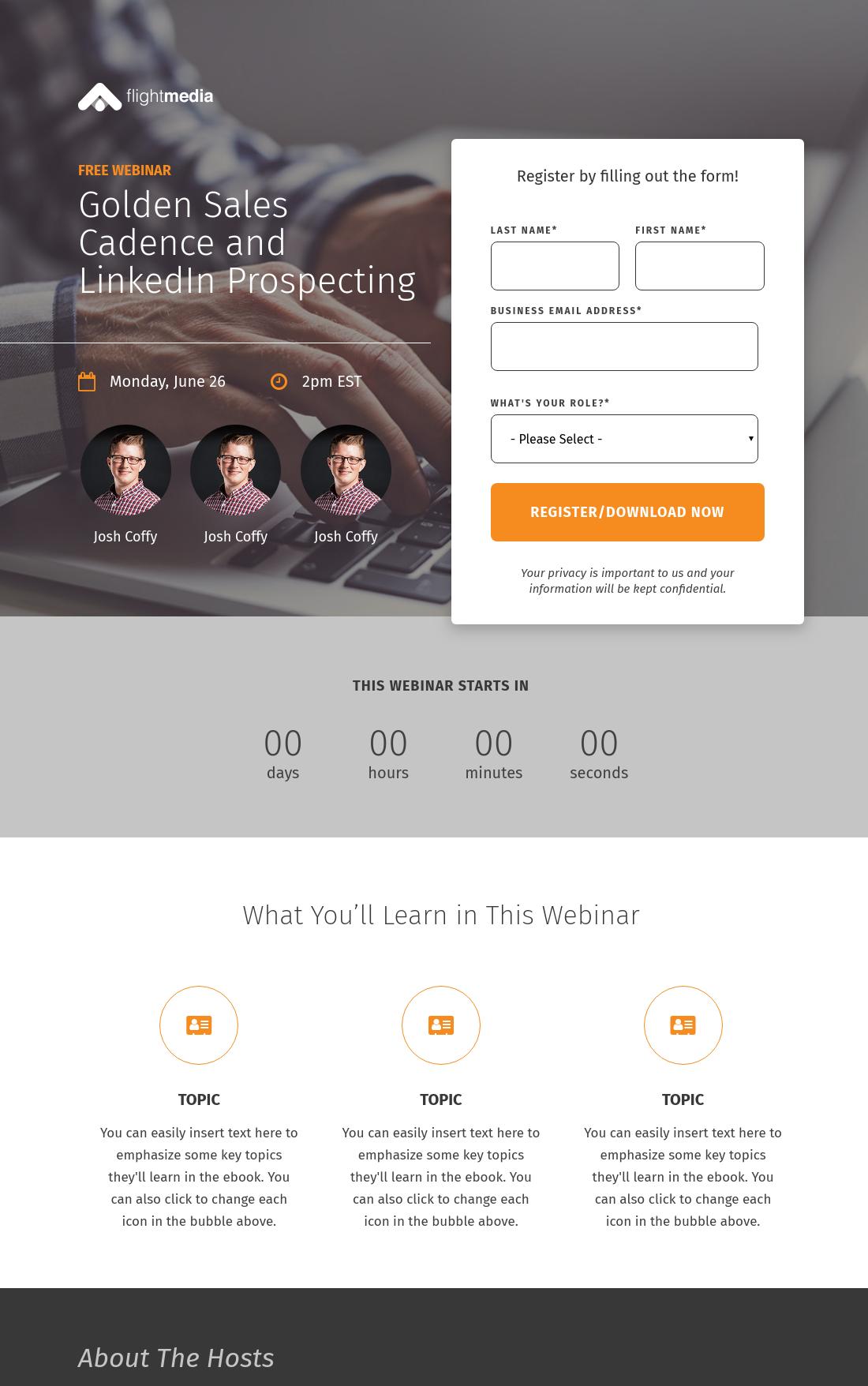 Spotlight Webinar Landing Page | HubSpot