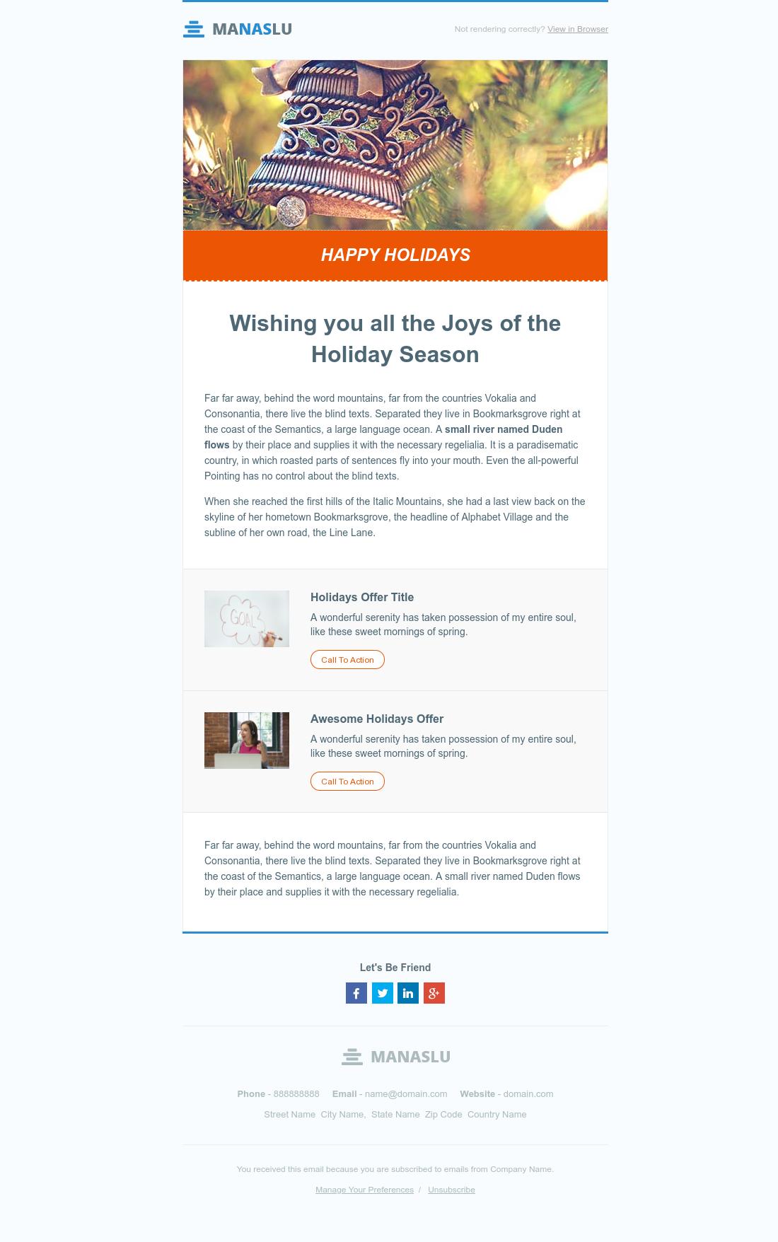 Manaslu Holidays Email Template V19 Hubspot